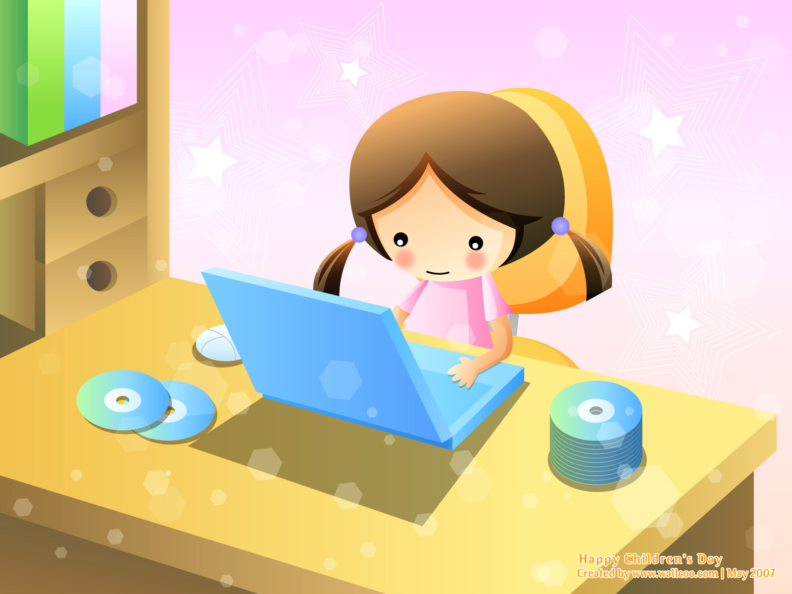 Colourful Illustrations for Children's Day 1600*1200 NO.17 Wallpaper