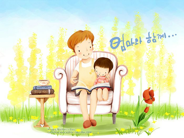 http://wallcoo.net/cartoon/Mother_day_Lovely_Children_illustraion/images/Lovely_illustration_of_mother_daughter_reading_wallcoo.com.jpg