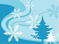 Blue Winter : Vector Winter Snowflake Backgrounds36 pics