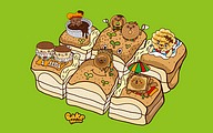 Windows 7 Themes (Wang, Hsueh-Shih) : Bake House Cartoon Characters5 pics