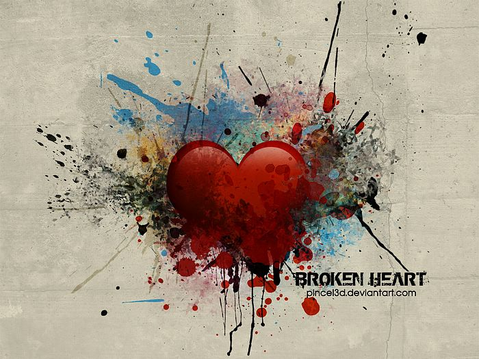 heart broken love. Broken Heart - Abstract
