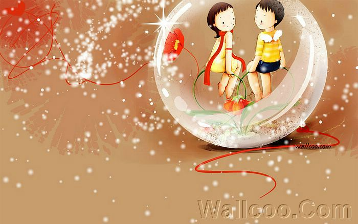 Wallpaper 、Puppy love, childhood sweetheart, calf love, Sweet Lovers,