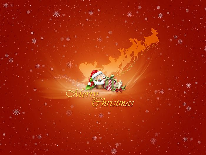 Christmas Illustrations in Mixed Styles  - Merry Christmas : snow globe and present  Wallpaper 27