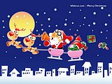 Christmas Vector Cartoon Wallpapers19 pics