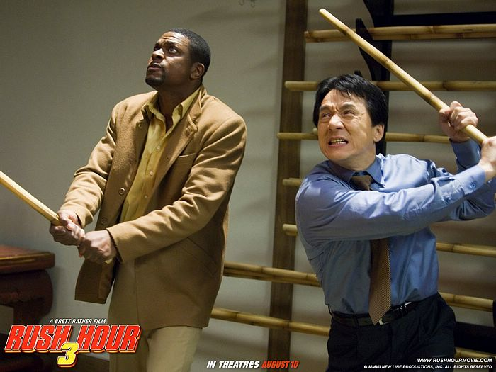 an analysis of rush hour an action movie starring jackie chan and chris tucker Through a textual and audience analysis of rush hour 2 although asian, black, and  (jackie chan as ''lee''), as they pursue asian gang mem .