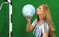 1440*900 World Cup Babes - Body Painting Jersey30 pics